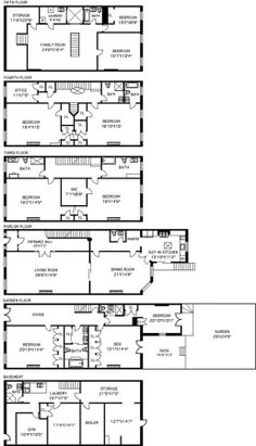 Brownstone floorplan architecture ii pinterest house this grand flowery remsen street brownstone wants 62m malvernweather Images