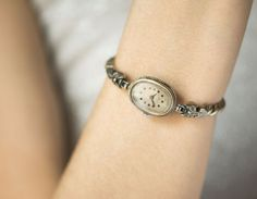 Posh women's watch oval lady's wristwatch Ray by SovietEra on Etsy
