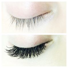 Work of art: eyelash extensions before and after by Emily at Nail Service salon