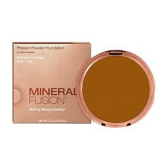 This pressed powder mineral foundation is easy to apply, evens skin tone and smoothes the appearance of fine lines and pores. Natural and paraben free. Pressed Powder Foundation, Mineral Foundation, Mineral Fusion, Cool Undertones, Even Skin Tone, Tan Skin, Light Skin, Natural Makeup, Minerals