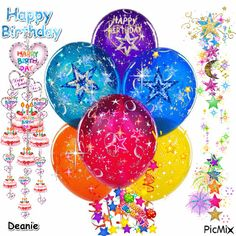 Happy Birthday Bouquet, Happy Birthday Black, Happy Birthday Candles, Happy Birthday Funny, Happy Birthday Balloons, Animated Birthday Greetings, Birthday Qoutes, Happy Birthday Wishes Images, Happy B Day Images