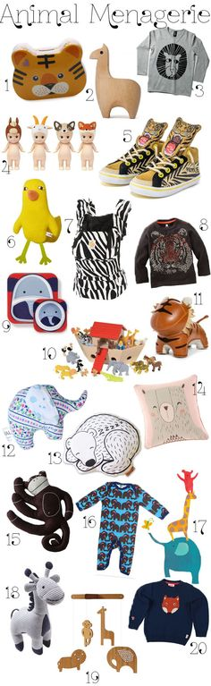 KidStyleFile Roundup: Animal Menagerie – A Roaring Collection of Animal Themed Fashion, Decor and Toys