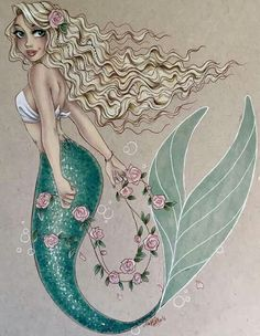 Commission from before the holidays. This one was so fun to do! I'm planning on going live in an hour or so to finish coloring a drawing I started live forever ago, so look out for that. Mermaid Artwork, Mermaid Drawings, Mermaid Room, Mermaid Tale, Mermaid Tattoos, Mermaid Paintings, Mermaid Tail Drawing, Mermaid Mermaid, Fantasy Mermaids