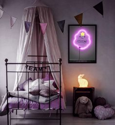 88c98f3d3a Adventure Time Lumpy Space Princess Neon Print by ArteRKL on Etsy -- a real  neon