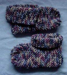 Beginner Knit Slippers
