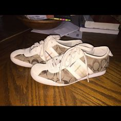 Coach shoes Real coach brand shoes, they're a few years old but have really only been worn a few times. They're in pretty new condition and relatively comfortable! Coach Shoes Sneakers