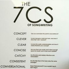 Songwriting tips.