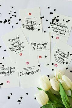 Bild: DIY Geschenk zum Valentinstag für Sie und Ihn, kreative Geschenkidee für den Valentinstag mit diesen Freebie Karten und Poster zum runterladen