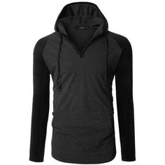 LE3NO Mens Long Sleeve Color Block Raglan Henley Shirt with Hood ($27) ❤ liked on Polyvore featuring men's fashion, men's clothing, men's shirts, men's casual shirts, men's color block shirt, mens hooded long sleeve shirt, mens extra long sleeve shirts, mens henley shirts and mens henley long sleeve shirts