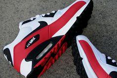 Street Giant » Nike Air Max 90 'White/Sport Red-Black'