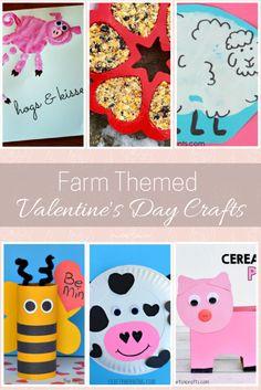 Farm Themed Valentine's Day Crafts