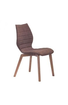 Aalborg Dining Chair - 100056Description :Elegant curves and sharp angles knock the Aalborg Chair out of the proverbial park. Simple and comfortable, the seat is softened by tobacco or graphite fabric cushions. Perfect for a modern kitchen with gauzy curtains.Features :Color :TobaccoProduct Cover (Upholstery Material or Type of Metal) :PolyblendProduct Finish (Structure Materiel or Type of Wood) :Solid WoodDimension: Dining Chair : W 18.9 x H 34.3 x L 21.7