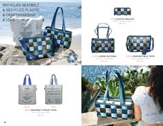 Ocean inspired hues for your favorite Earth Friendly Seatbelt bag