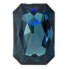 27mm Montana Swarovski Crystal Octagon Fancy Stone - 4627