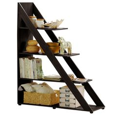 "Wholesale Interiors Baxton Studio 59"" Accent Shelves Bookcase"