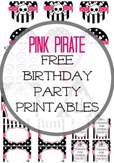 From time to time friends contact me to design some printables … – Wanderlust Girls Pirate Parties, Girls Birthday Party Themes, Birthday Party Decorations, Birthday Ideas, Pirate Party Invitations, Girl Pirates, Pirate Birthday, 3rd Birthday, Party Printables