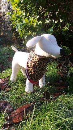 Dog Reign Collar Bandana Pink and Leopard Print