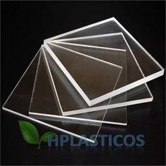 chapa placa de acrílico cristal 25 cm x 25 cm 4mm