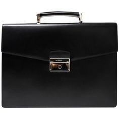 Pre-owned briefcase (19.955.825 IDR) ❤ liked on Polyvore featuring bags, briefcases and black