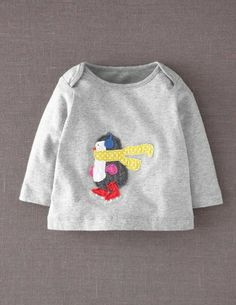 I've+spotted+this+@BodenClothing+Festive+Appliqué+T-shirt+Grey+Marl+Penguin