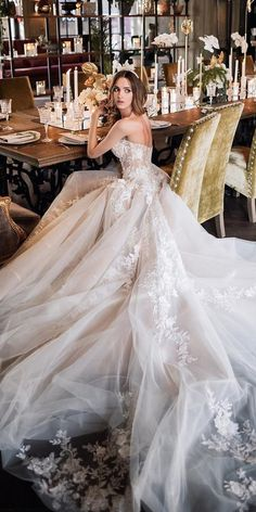 wedding dresses 2019 ball gown low back lace ivory galia lahav - Bridal Gowns Green Bridesmaid Dresses, Top Wedding Dresses, Stunning Wedding Dresses, Bridal Dresses, Princess Wedding Dresses, Beautiful Dresses, Wedding Gowns, Fluffy Wedding Dress, The Dress