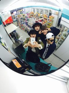 jimin showing you howto sweg for a convenience store selfie
