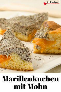 Was für eine Kombi! Rezept für saftigen Marillenkuchen mit Mohn.