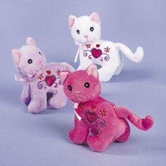 Cuddly Kitten Mini Plush Kitten Party Favors (4)
