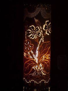 Luminária PVC_Floral detalhada