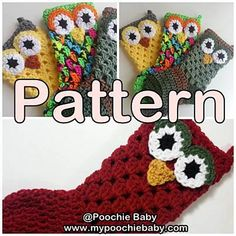 Ravelry: Crochet Owl Stocking pattern by Michele Gaylor