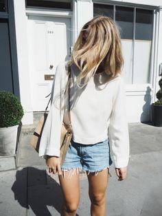 Fall: sweaters + shorts