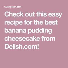 ideas breakfast sandwich easy ham and cheese Banana Pudding Cheesecake, Cinnamon Roll Cheesecake, Best Banana Pudding, How To Make Cheesecake, Vanilla Pudding Mix, Cheesecake Recipes, Dessert Recipes, Potluck Desserts, Pudding Cake