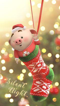Wallpaper Pig, Disney Wallpaper, Iphone Wallpaper, This Little Piggy, Little Pigs, Pig Illustration, Illustrations, Kawaii Pig, Cute Piglets