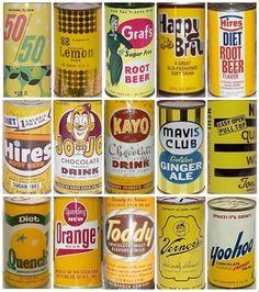 More retro soda cans