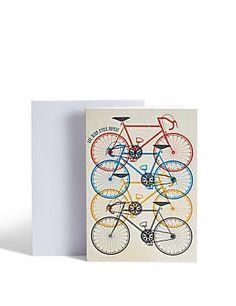 Coloured Bikes Birthday Card