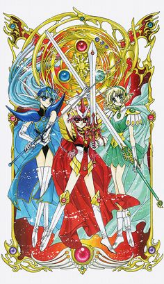 海 Umi、光 Hikaru、風 Fuu:魔法騎士レイアース Magic Knight Rayearth - CLAMP