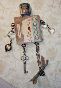 SALE-Forget Me Not Assemblage Art Doll by jeanettejanson on Etsy