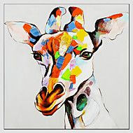 Oil+Painting+Giraffe+Style+,+Canvas+Material+with+Stretched+Frame+Ready+To+Hang+SIZE:70*70CM.+–+CAD+$+33.35