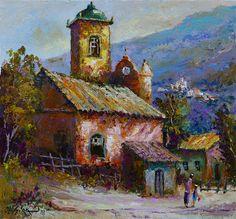Landscape Art, Landscape Paintings, South American Art, Building Art, Window Art, Colorful Drawings, Artist Painting, Art Techniques, Art And Architecture