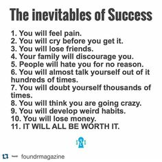 #Repost @foundrmagazine with @repostapp.  It will all be worth it  love this! Via @secrets2success