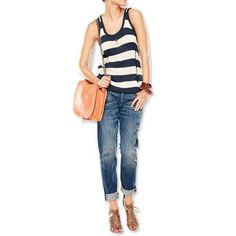 New Ways to Wear Denim - Boyfriend Jeans from #InStyle