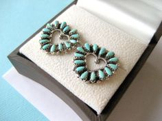 Zuni Sterling Silver and Needlepoint by sparklinglotusdesign