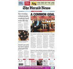 The front page of The Herald News for Tuesday, June 10, 2014. #fallriver
