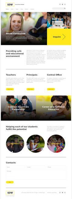 School Joomla Template