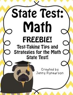 Math State Test FREEBIE! Do's and Don'ts!