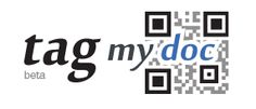TAG MY DOC - Store your pdf, Word, Excel, PowerPoint, Open Document or image files in the cloud. A code for each is automatically generated, so you can share the file with anyone that has a QR code scanner. Upload a revised version and the code is still intact. Now there's an add-in for Word, so you can upload and share even faster!