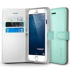 iPhone 6 Plus Case, Spigen® [Stand Feature] iPhone 6 Plus (5.5) Case Wallet [Wallet S] [Mint] Premium Wallet Case STAND Flip Cover for iPhone 6 Plus (5.5) (2014) - Mint (SGP10920) Spigen http://www.amazon.com/dp/B00JH83QTS/ref=cm_sw_r_pi_dp_Yexeub0X9SNX8