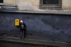 Lviv with rain