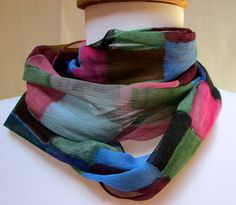 Handpainted Silk Scarf Accessory made in the Hudson by Silkworth