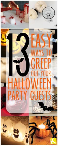 13 Creepy Ways to Decorate Your Home for Halloween - The Krazy Coupon Lady Creepy Halloween Food, Creepy Halloween Decorations, Halloween Food For Party, Halloween Birthday, Holidays Halloween, Halloween Kids, Halloween Treats, Vintage Halloween, Happy Halloween